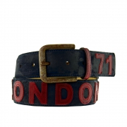 London Gürtel Blue, belts&more, 4cm, Blau